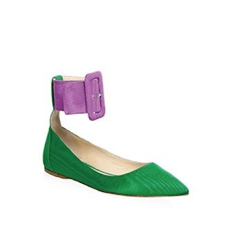 Ankle Belt Ballet Flats