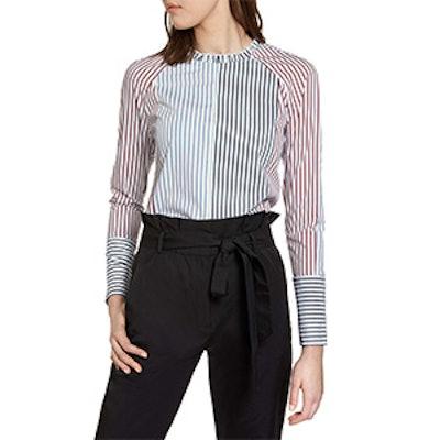 Mixed Stripe Cotton Shirt