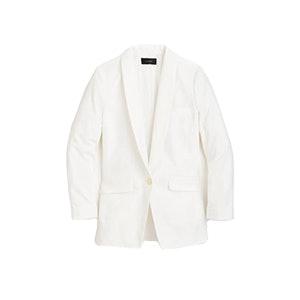 Unstructured Shawl Collar Cotton Linen Blazer
