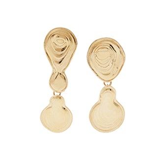 Double Drop Gold-Tone Earrings