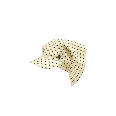 Dyna Polka-Dot Silk Cap