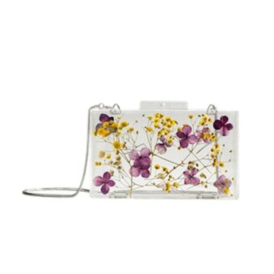 Flowers Transparent Box Clutch