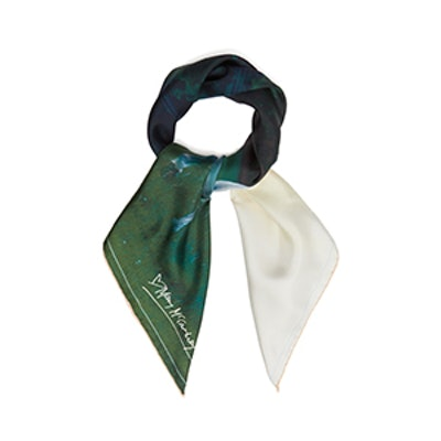 Horse-Print Silk Scarf