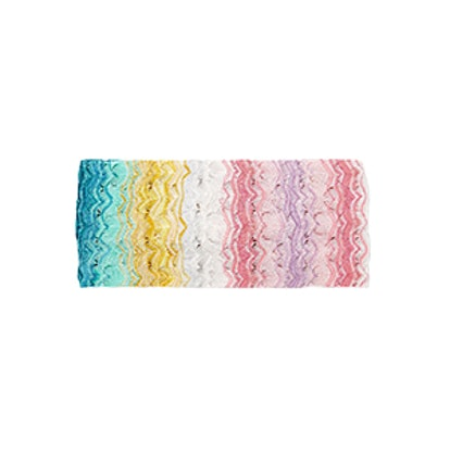 Mare Metallic Crochet-Knit Headband