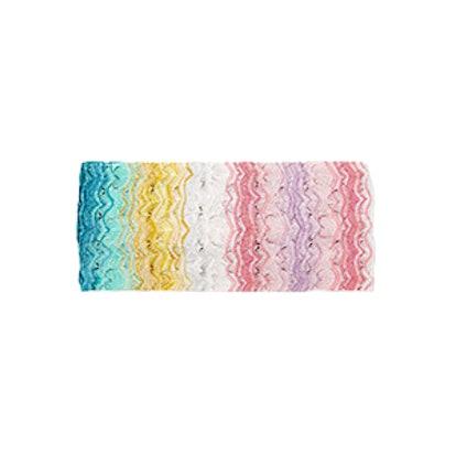 Mare Metallic Crochet-Knit Headband