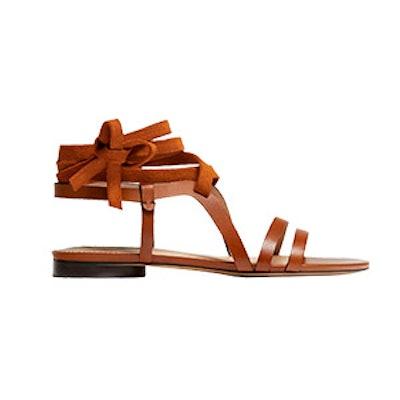 Multi-Strap Tan Leather Sandals