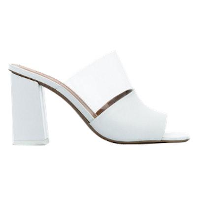Neous White Benzi 80 Leather PVC Sandals