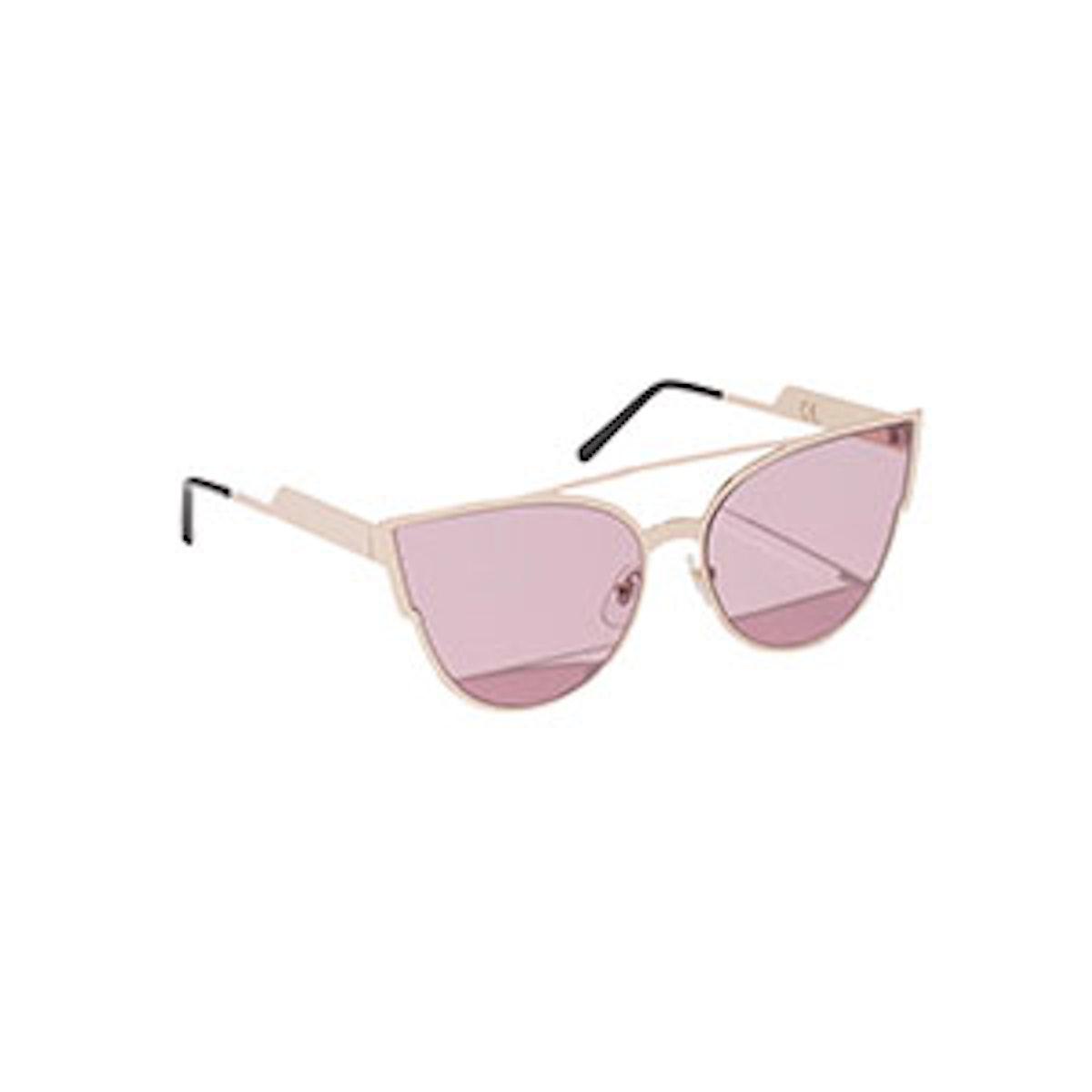 Cat Eye Sunglasses In Rose Gold/Pink