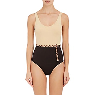 Eres Piet Belted One-Piece Halter Swimsuit
