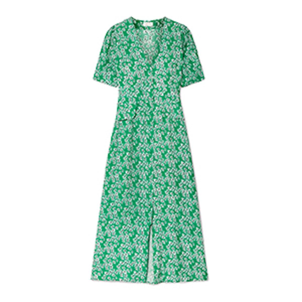 Jackson Floral-Print Crepe De Chine Midi Dress