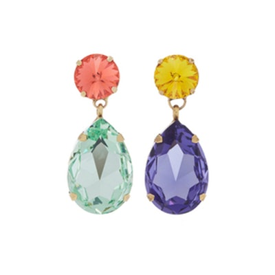 Hip-Hop But Not Mismatched Swarovski Crystal Clip Earrings
