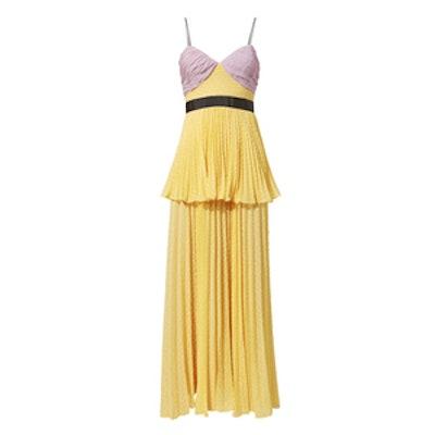 Crinkled Plumetis Tiered Dress
