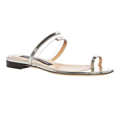 Sergio Rossi Karen Suede Slide Sandals