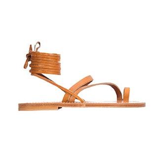 K Jacques St Tropez Strappy Lace Up Sandals