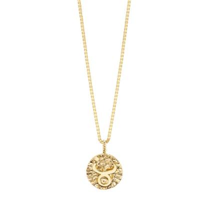 Gold Coin Zodiac Pendant