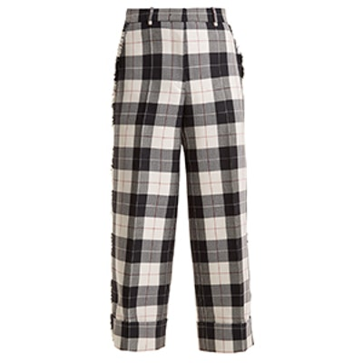 Sack Trouser With Fray In Large Buffalo Check