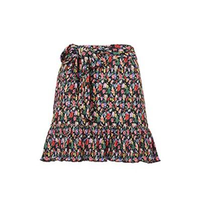 Petite Floral Plisse Skirt
