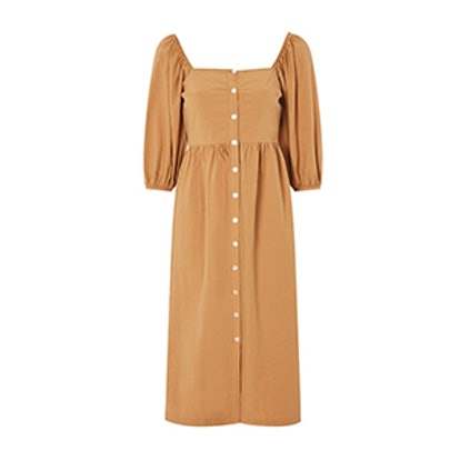 Seersucker Button Smock Dress
