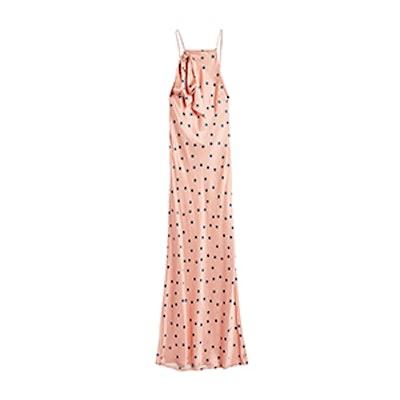 Spot Jacquard Slip Dress