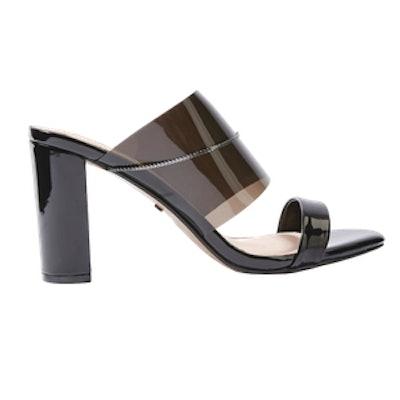 Raquel Chain Perspex Heel Mules