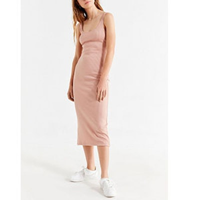 Bella Ribbed Knit Bodycon Midi Dress