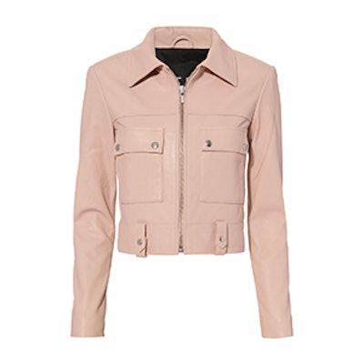 Cropped Boxy Leather Jacket