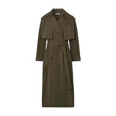 Brushed-Twill Trench Coat