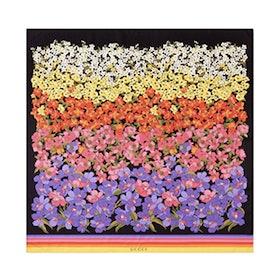 Degrade Floral Silk Foulard Scarf