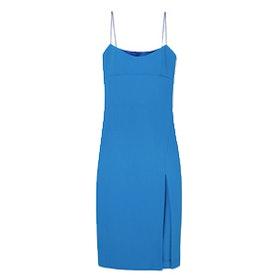 Olivia Satin-Trimmed Crepe Mini Dress