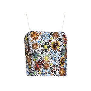 Saraphina Embellished Spaghetti Strap Bustier