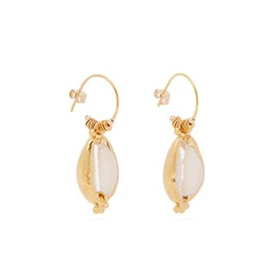 Elise Tsikis Valos Shell Earrings