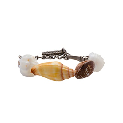 Silver And Shell Bracelet
