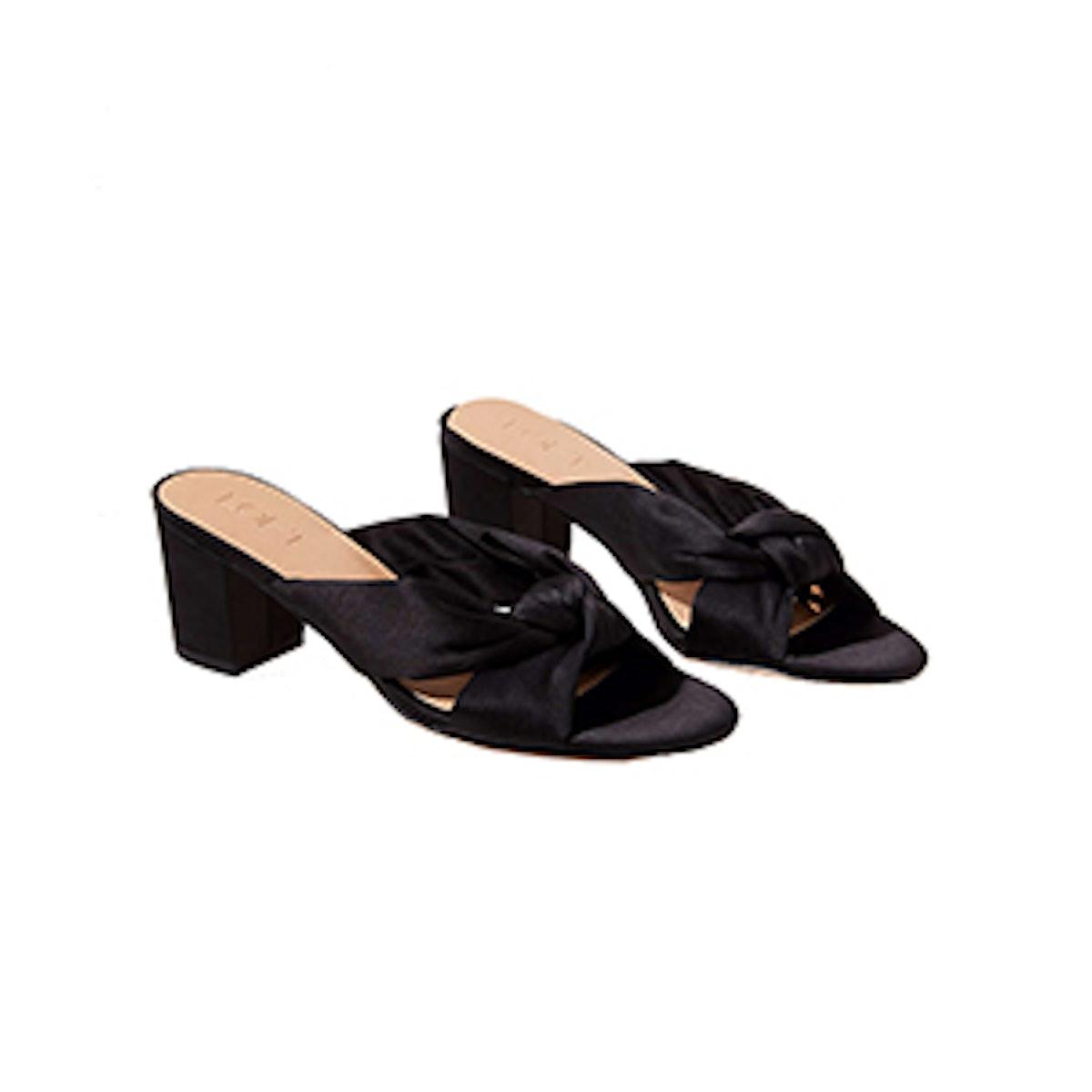 Satin Knot Slide Sandals