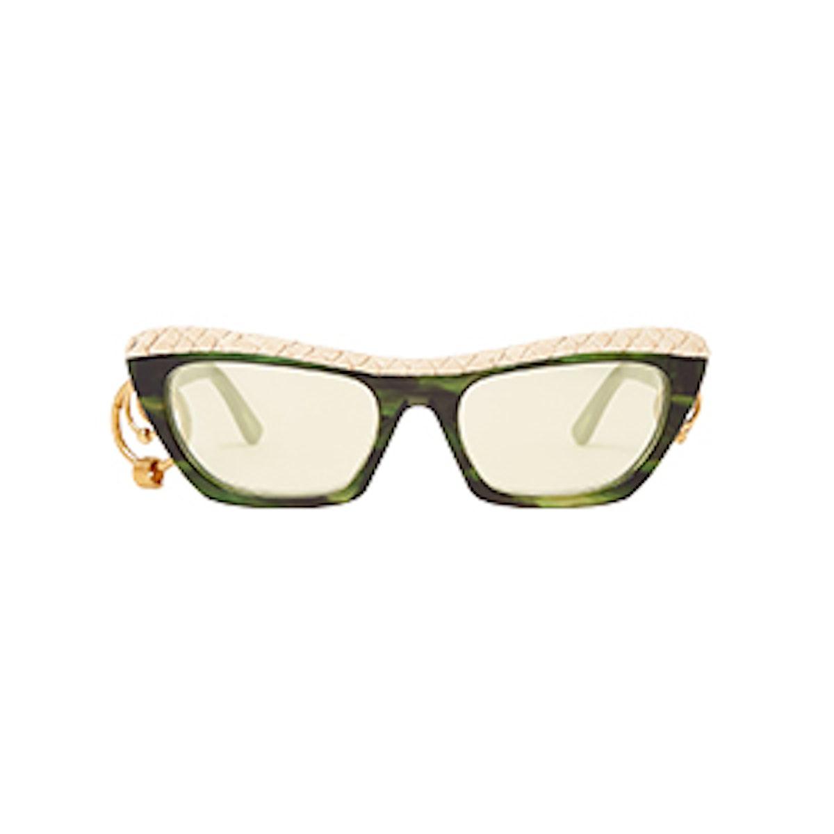 Dielle Temple-Hoop Sunglasses