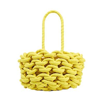 Alienina Woven Cotton Bucket Bag