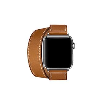 Apple Watch Hermès 38mm Fauve Barenia Leather Double Tour