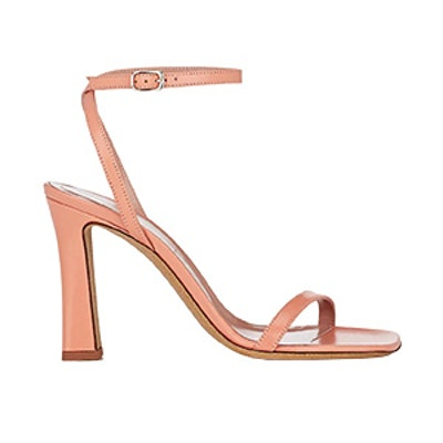 Glitter-Sole Leather Sandals