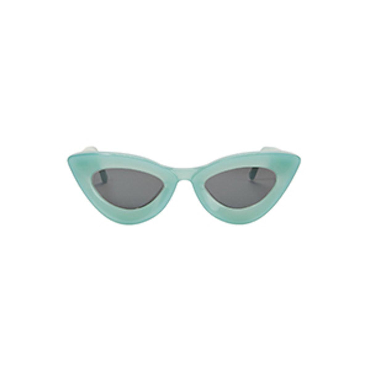 Iemall Green Cat Eye Sunglasses