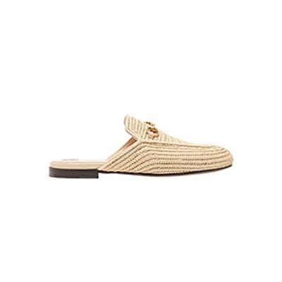 Gucci Princeton Raffia Backless Loafers
