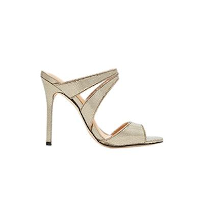 Halston Heritage Brittney Cracked Leather High Heel Sandal