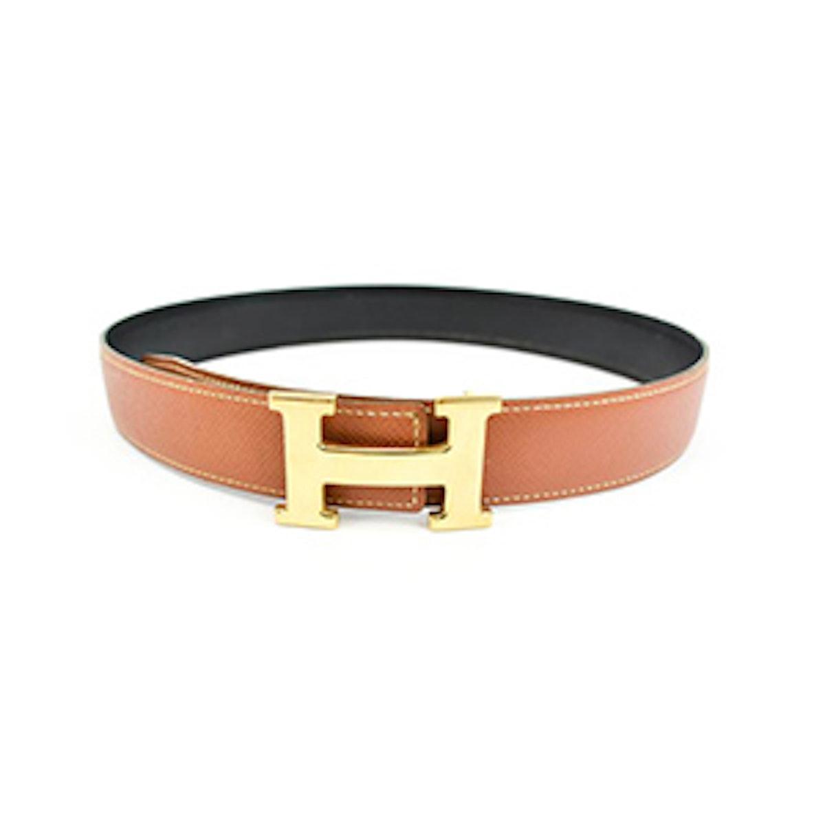"Reversible Leather ""H"" Logo Belt"
