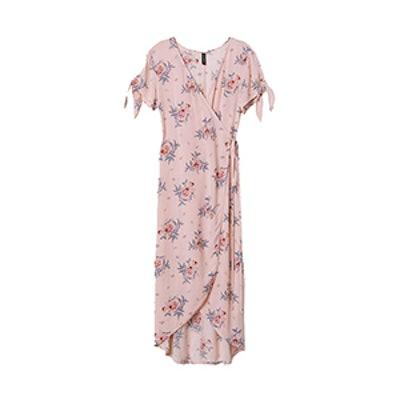 Crêped Wrap-Front Dress
