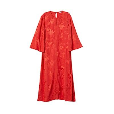 Jacquard-Weave Dress