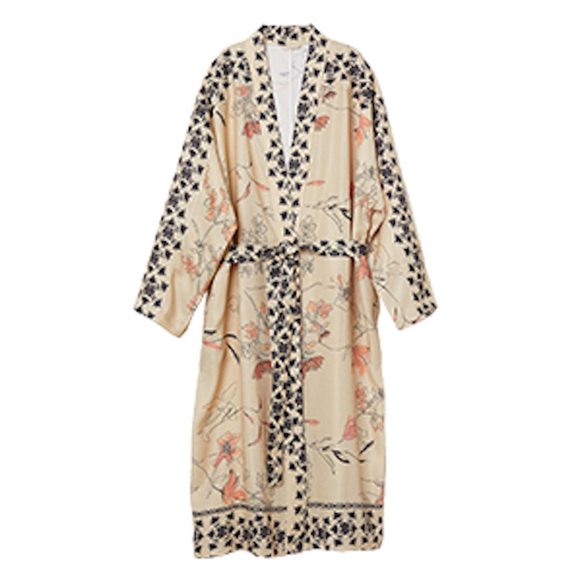 Linen-Blend Kimono