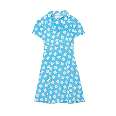 Mini Morgan Floral-Print Silk Crepe de Chine Mini Dress