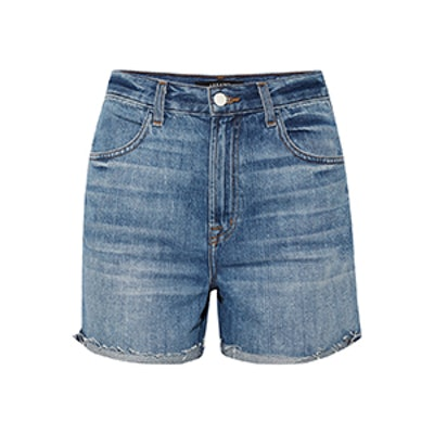Joan Distressed Denim Shorts