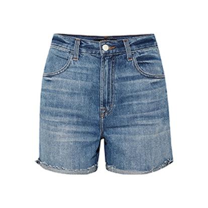 Joan Distressed Denim Shorts