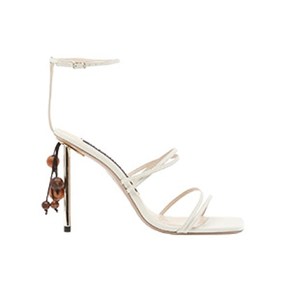 Chacha Bead-Embellished Sandals