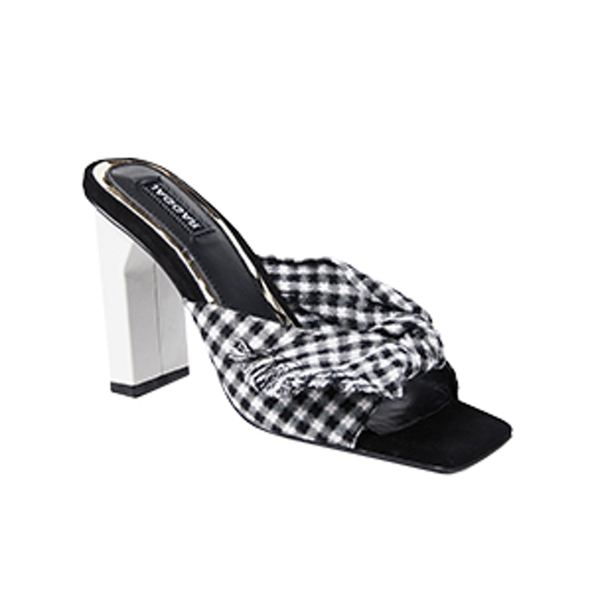 Knot Gingham Sandals