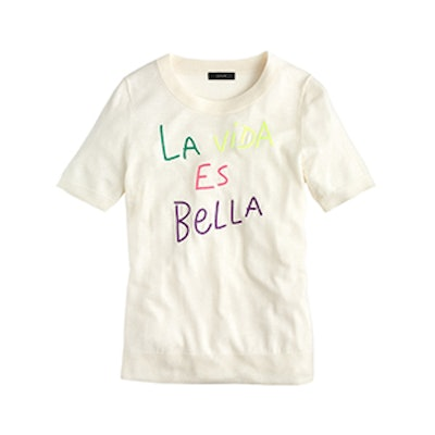 "Tippi Short-Sleeve Sweater in ""La Vida Es Bella"""